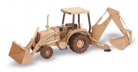Back Hoe Tractor Woodworking Toys and Joys plan from Bear Woods Supplly