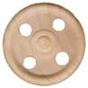 treaded wooden toy wheel
