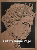 Scroll Saw Portrait Pattern of the Queen