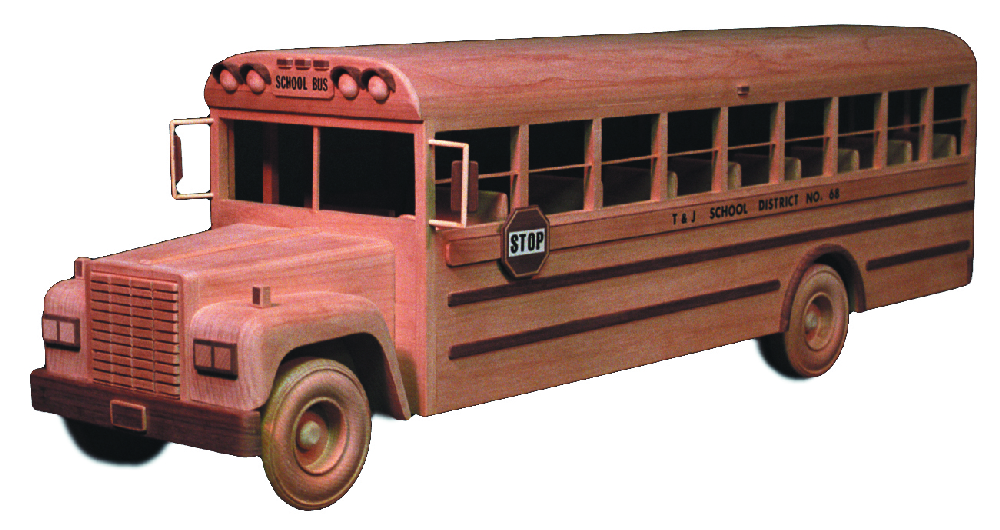 Wooden Trucks Toys And Joys : School bus inch woodworking plan
