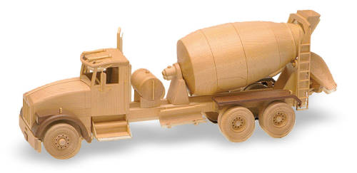 Toys Joys Wood Patterns : Ready mix truck inch woodworking plan