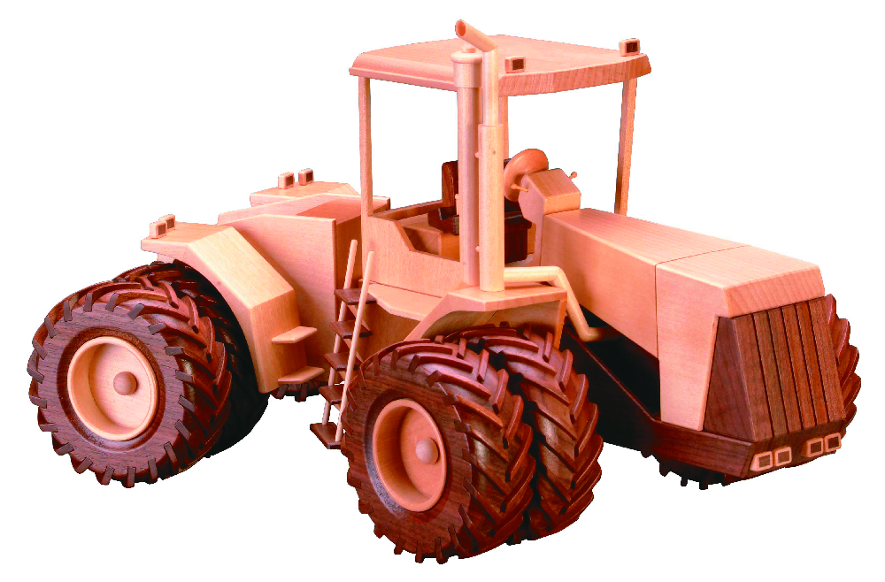 Articulated Tractor Toys And Joys : Articulated tractor inch woodworking plan
