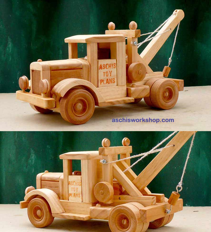 Tough Truck Tow Truck Complete Wooden Model