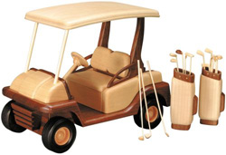 the golf cart woodworking plan approx 9 inches