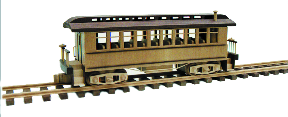 Wooden Toy Train Patterns : Passenger car woodworking plan approx inches
