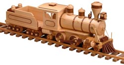 Old 99 Locomotive And Tender Woodworking Pattern Approx
