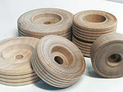 Buy treaded wooden wheels and wood wheel with dual treads | Bear Woods Supply