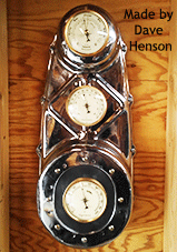 Weather station clock inserts