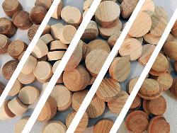 wood screwhole plugs, floor plugs, USA Made