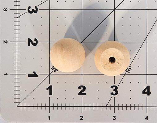 Wood Ball Knob 1 inch | Bear Woods Supply