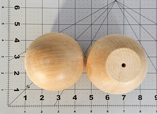 Wood Ball Knob 3 inch | Bear Woods Supply