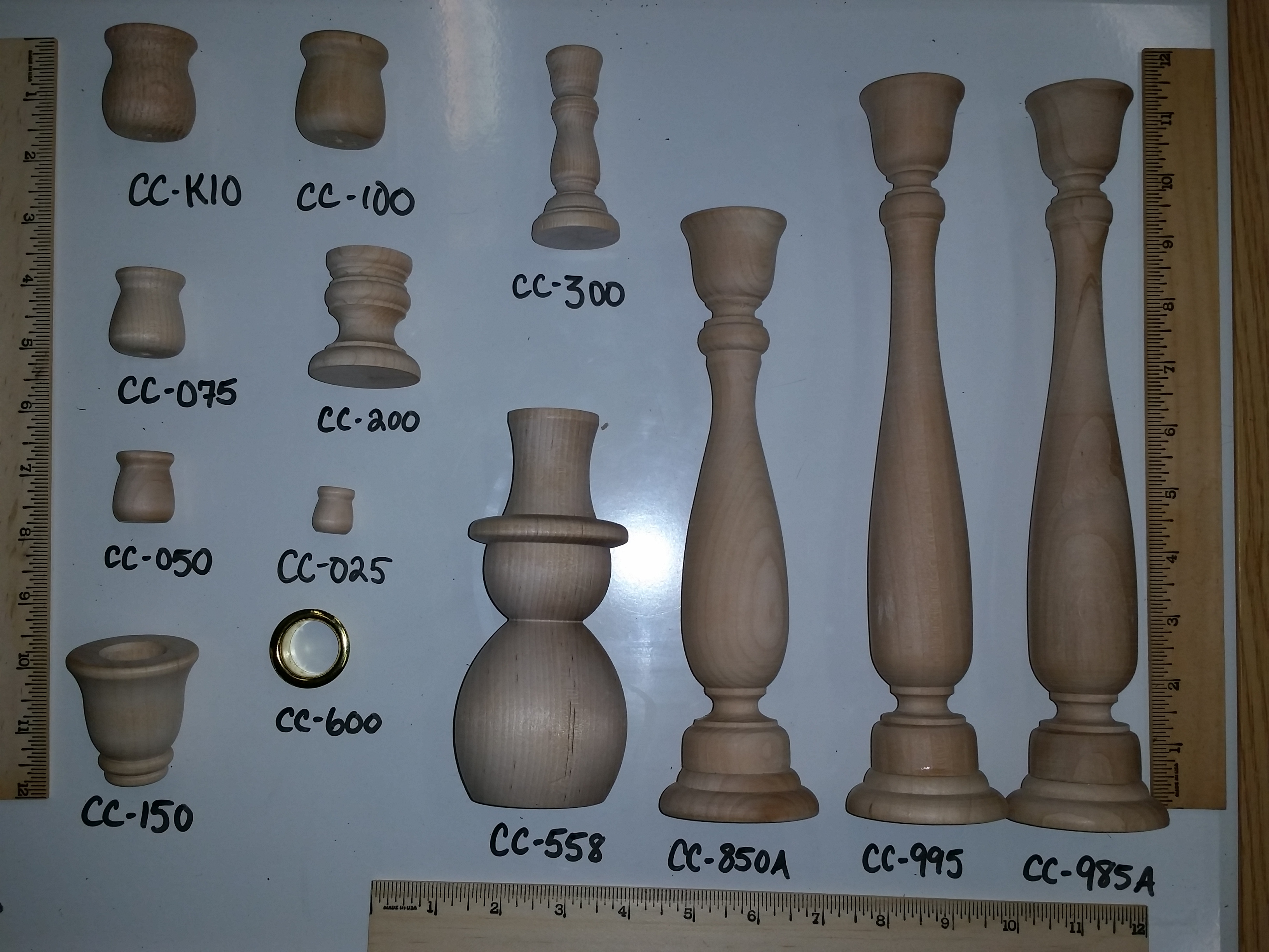 wood candle cups, candle sticks