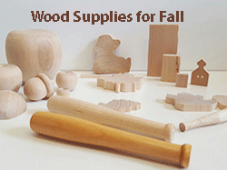 Buy wood craft parts for fall, wooden shapes | Bear Woods Supply