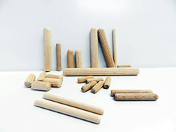 Buy wood dowel pins, metric size fluted dowels | Bear Woods Supply