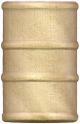 Wood toy oil drum
