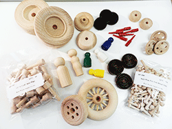 Buy wood toy parts, wooden wheels, game pieces | Bear Woods Supply