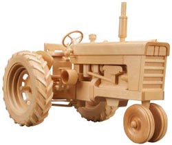 Wood toy plan tractor pattern