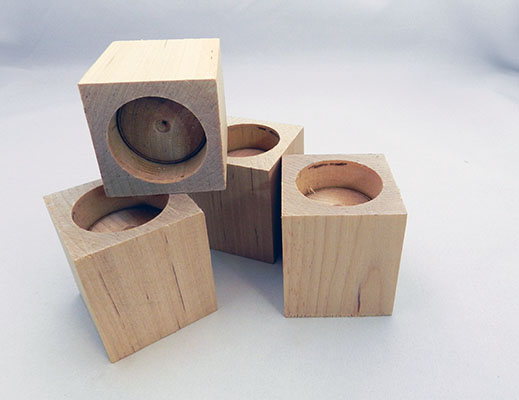 Wooden Tealight Candle Holders 2 3 16 X 2 1 4