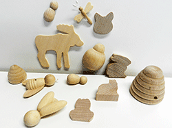 Buy wooden animal shapes and wood cut-outs | Bear Woods Supply