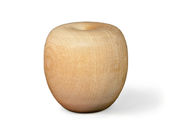 Wooden craft unfinished apple