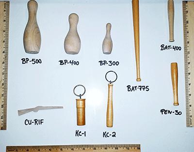 Buy mini wooden baseball bats and bowling pins | Bear Woods Supply