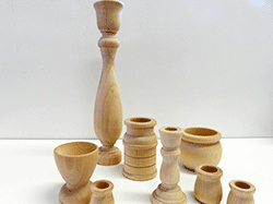 Buy wooden candle cups and candle sticks | Bear Woods Supply