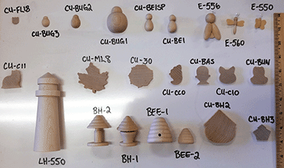 Buy wooden animal shapes and wood critter cut-outs | Bear Woods Supply.