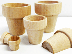 Buy wooden flower pots and wood pails for crafts | Bear Woods Supply