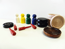 Buy wooden game parts, wooden checkers and cribbage Pegs | Bear Woods Supply