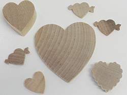Buy wooden heart cut-outs | Bear Woods Supply