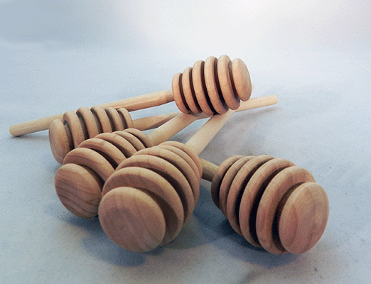 Unfinished Wooden Honey Dippers 6