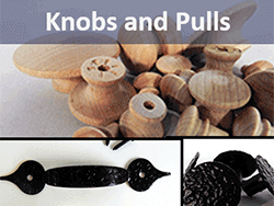 wooden mushroom knobs and pulls