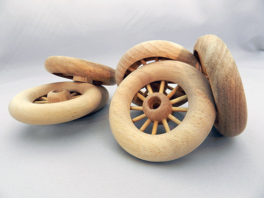 Spoked Wheel Wooden 3 Quot X 5 8 Quot With Axle Peg