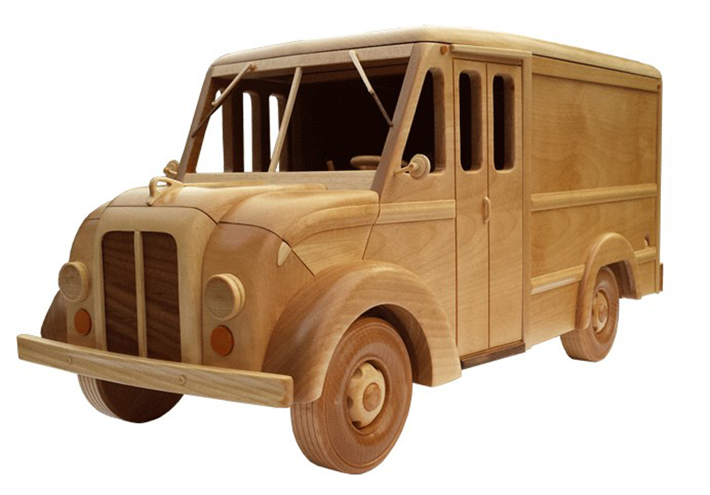 Wooden Toy Train Patterns : The s milk truck wooden toy pattern quot