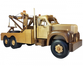 Woodworking patterns to make a 1950s tow truck model