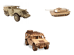 Military Equipment Woodworking Patterns | Bear Woods Supply